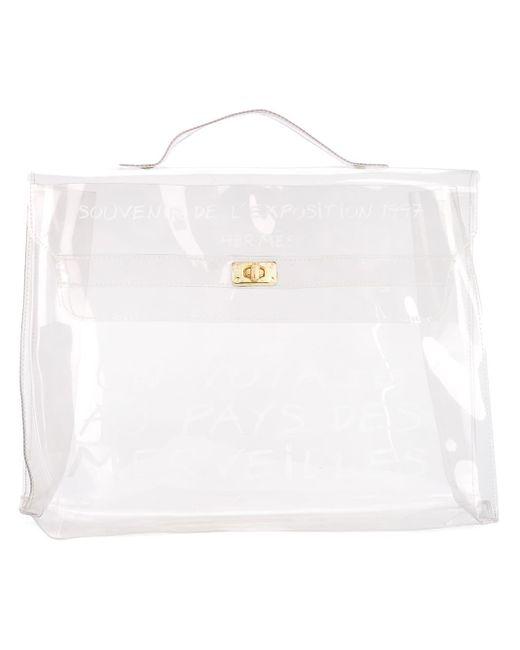 Пляжная Сумка Vinyl Kelly Pre-owned Hermès, цвет: White
