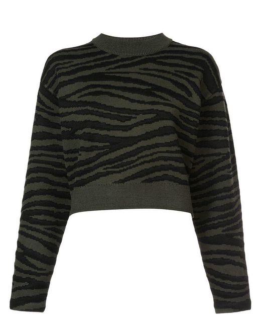 Proenza Schouler - Green Tiger Jacquard Sweater - Lyst