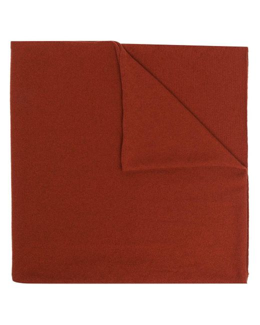 Pringle of Scotland Scottish ファインニット カシミアスカーフ Red