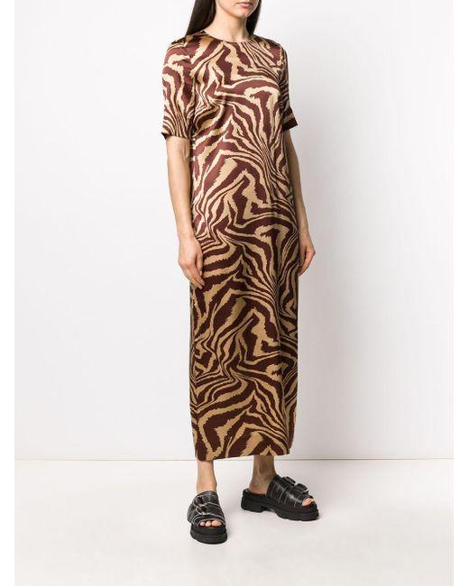 Ganni アニマルプリント ドレス Multicolor
