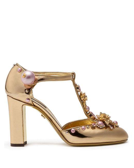 Dolce & Gabbana Metallic Verzierte Pumps