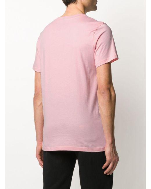 Camiseta Milano con logo y signos de interrogación Moschino de hombre de color Pink