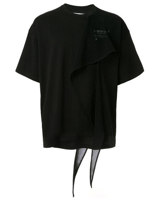 Футболка С Сетчатой Вставкой Yoshio Kubo для него, цвет: Black