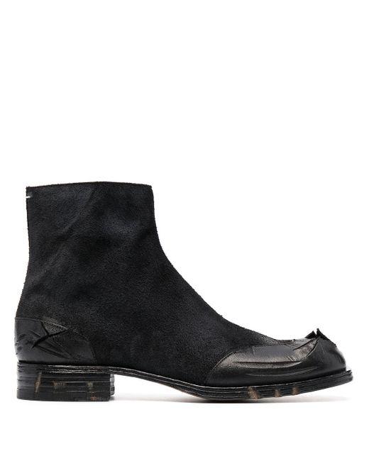 Ботинки С Эффектом Потертости Maison Margiela для него, цвет: Black