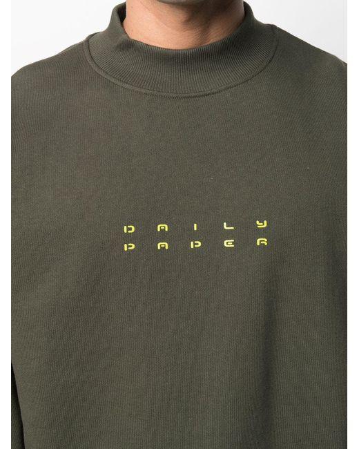 メンズ Daily Paper ロゴ スウェットシャツ Green