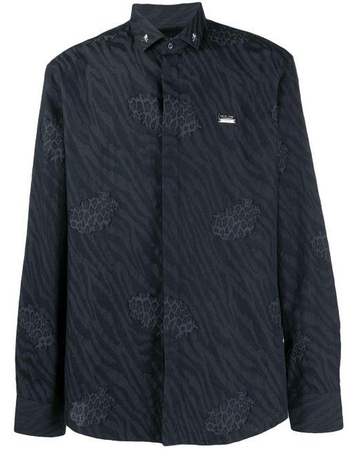 Рубашка С Анималистичным Принтом Philipp Plein для него, цвет: Black