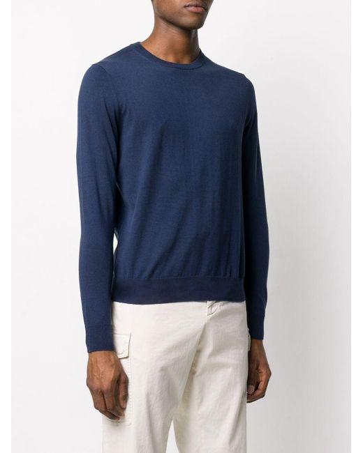 Jersey con cuello redondo Ballantyne de hombre de color Blue