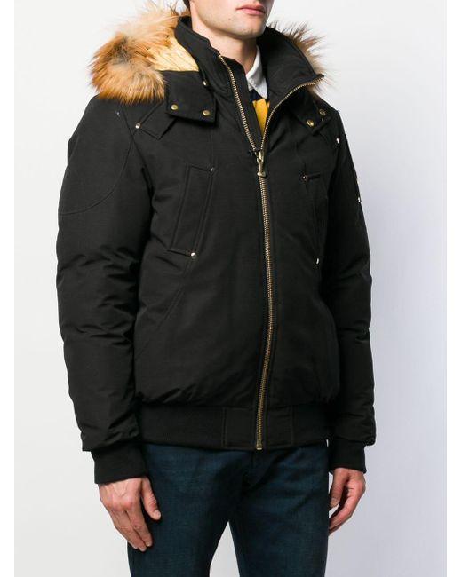 Moose Knuckles Daunenjacke mit Kapuze in Black für Herren
