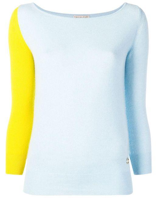 Emilio Pucci ツートーン セーター Multicolor