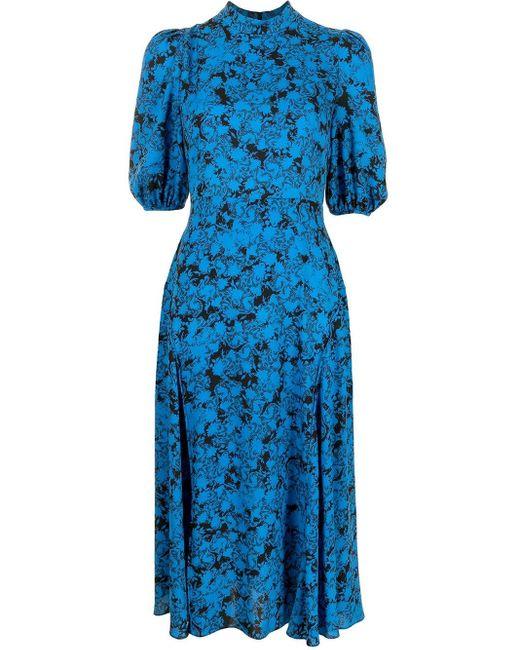 Vestito midi con stampa di Diane von Furstenberg in Blue