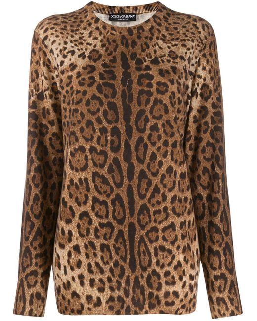 Dolce & Gabbana アニマルプリント カシミアセーター Multicolor