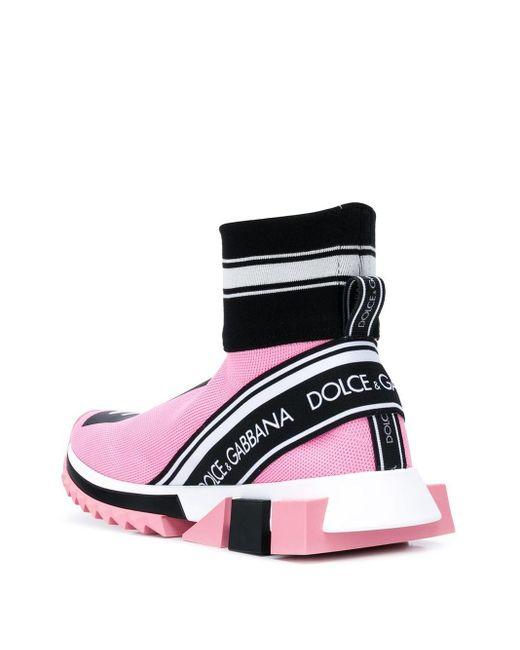 Высокие Кроссовки-носки Sorrento Dolce & Gabbana, цвет: Pink