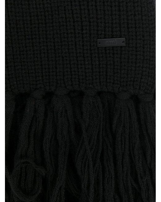 Écharpe à côtes AMI pour homme en coloris Black