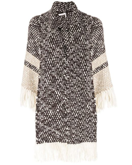 See By Chloé | Brown Scarf Cardigan Coat | Lyst