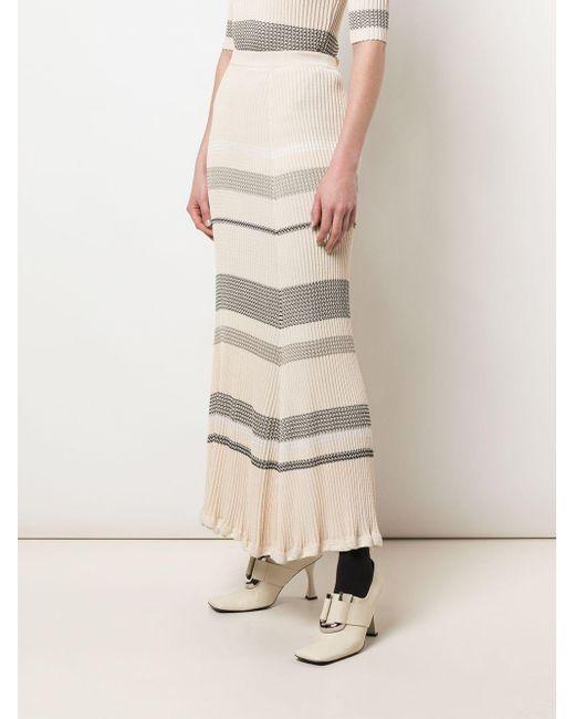 Proenza Schouler ジグザグ ニットスカート Natural