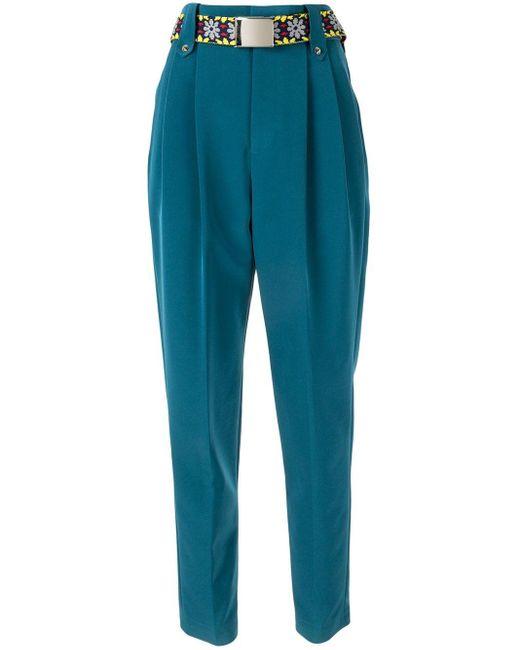 Kolor フローラル パンツ Blue