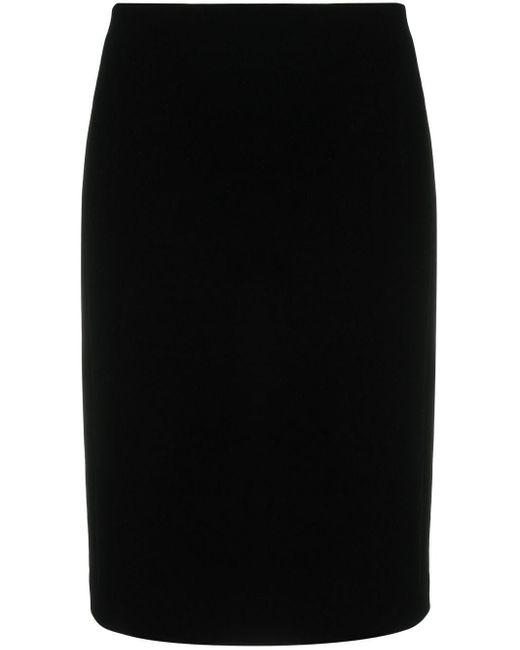 Jupe texturée à taille haute Saint Laurent en coloris Black