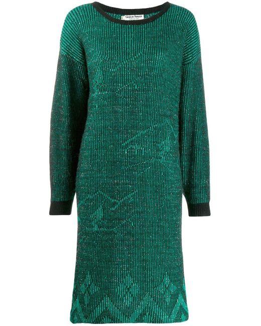 Giorgio Armani Pre-Owned 1980's ドレス Green