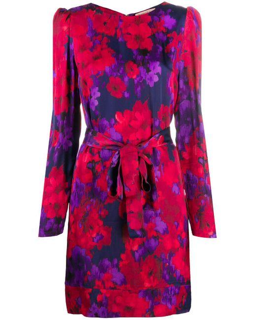 Twin Set フローラル ドレス Red