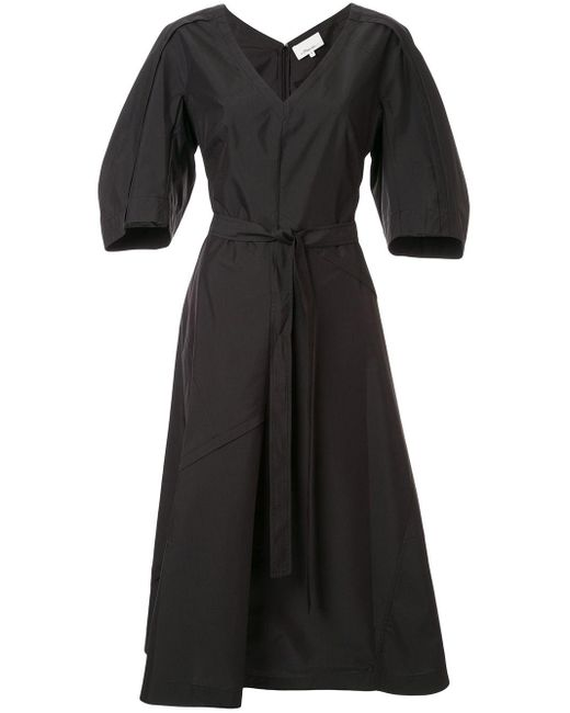 3.1 Phillip Lim パフスリーブ ドレス Black