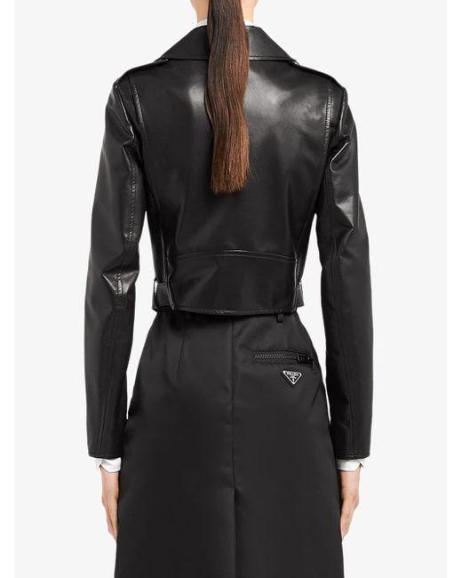 Prada ライダースジャケット Black
