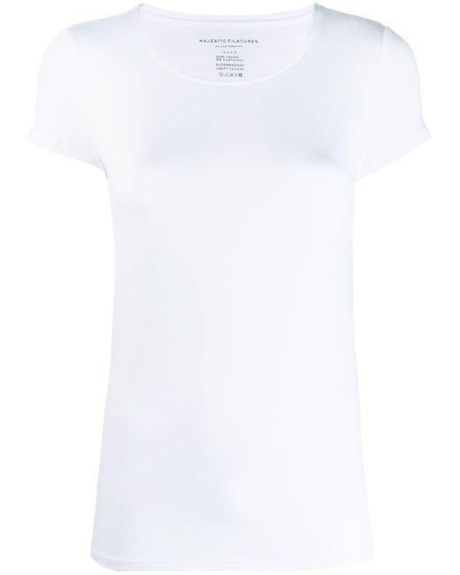 Majestic Filatures ラウンドネック Tシャツ White