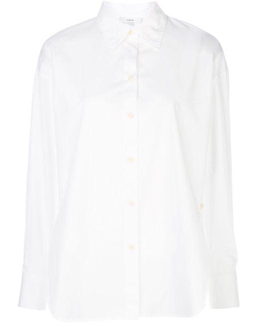 Vince ポインテッドカラー シャツ White