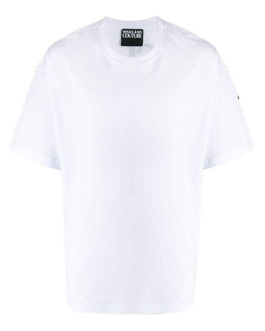 メンズ Versace Jeans オーバーサイズ ロゴ Tシャツ White