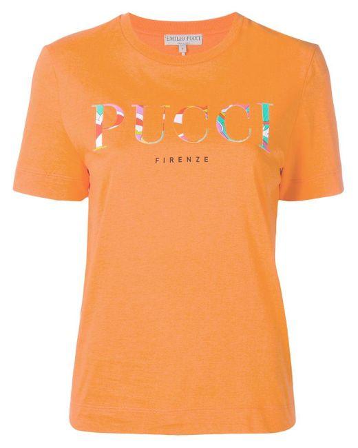Emilio Pucci ロゴ Tシャツ Orange