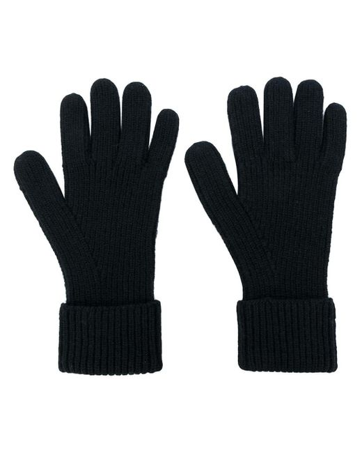 Gants nervurés en cachemire N.Peal Cashmere pour homme en coloris Black