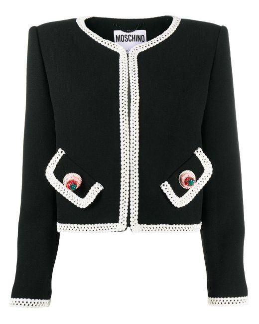 Жакет С Вышивкой Moschino, цвет: Black
