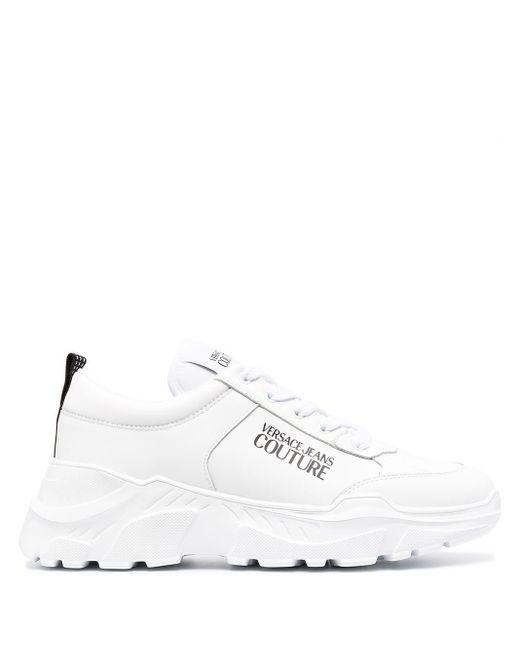 メンズ Versace Jeans チャンキーソール スニーカー White