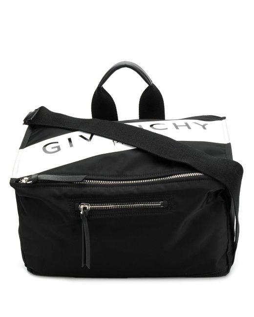 Borsa messenger con stampa di Givenchy in Black da Uomo