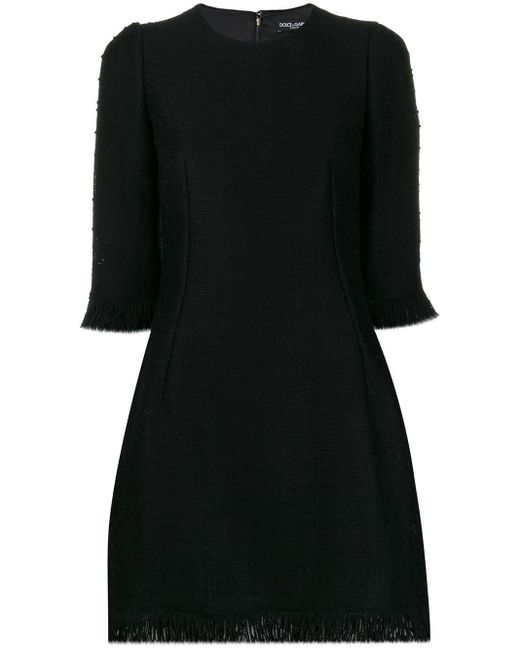 Dolce & Gabbana ブークレ ミニドレス Black