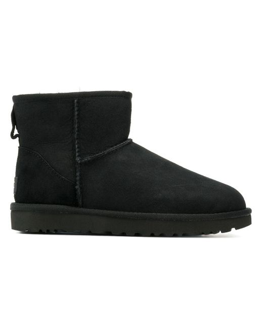 Ugg Shearling Lined Boots Black