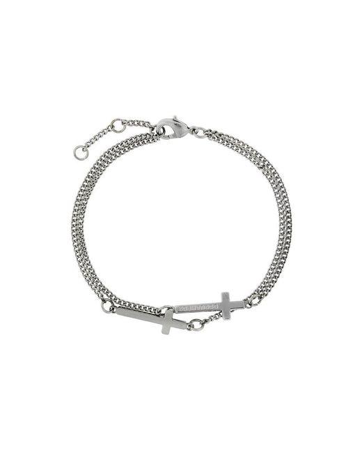 DSquared² - Metallic Engraved Cross Bracelet for Men - Lyst