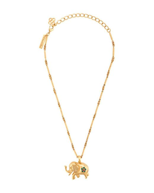 Oscar de la Renta Elephant チェーンネックレス Metallic