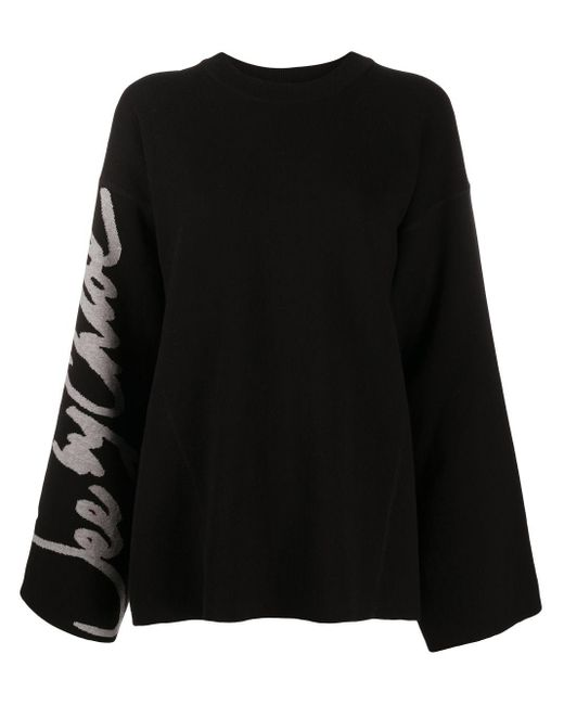 See By Chloé Black Bell-sleeved Sweater