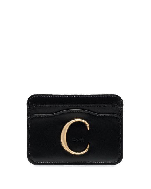 Картхолдер С Металлическим Логотипом Chloé, цвет: Black