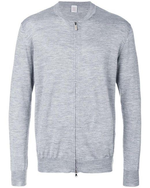 Eleventy   Gray Zip Up Cardigan for Men   Lyst