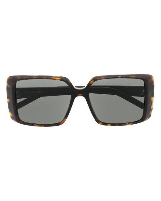 Солнцезащитные Очки Sl451 В Квадратной Оправе Saint Laurent, цвет: Brown