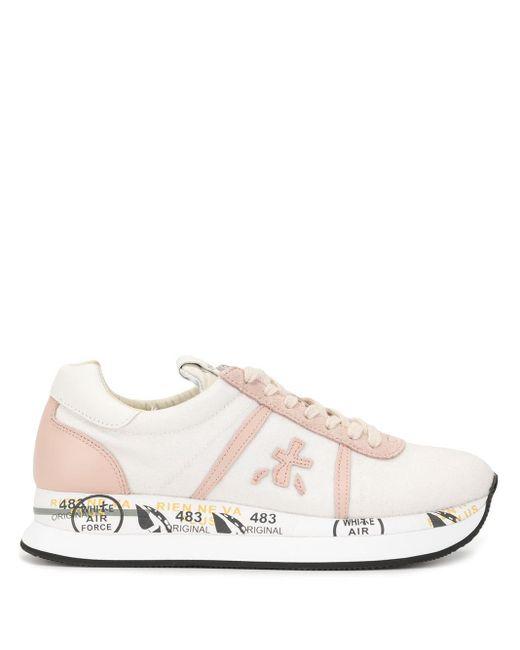 Premiata ロゴ スニーカー Pink