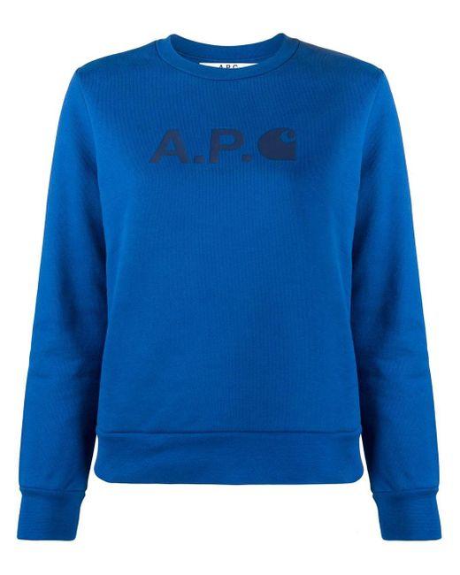 A.P.C. Interaction #5 Carhatt Wip セーター Blue