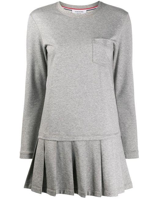 Thom Browne ドロップウエスト ドレス Gray