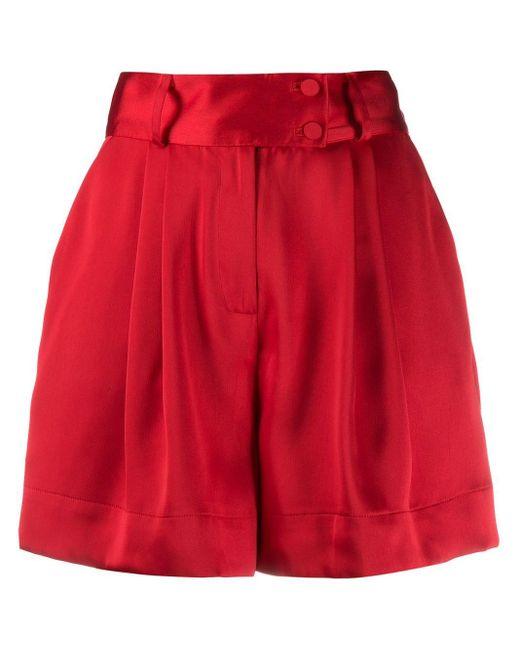 Styland ワイドショートパンツ Red