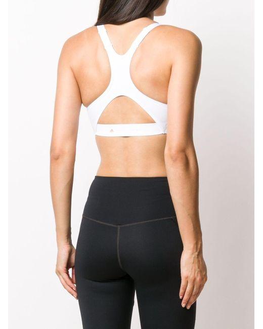 Спортивный Бюстгальтер Truepurpose Со Средней Степенью Поддержки Adidas By Stella McCartney, цвет: White