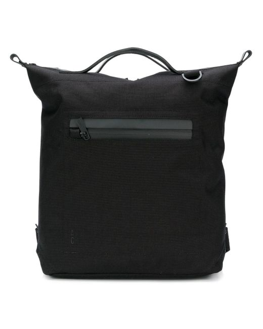 Ally Capellino Top Handle Zip Pocket Backpack in het Black