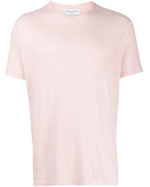 メンズ Officine Generale レイヤード Tシャツ Pink