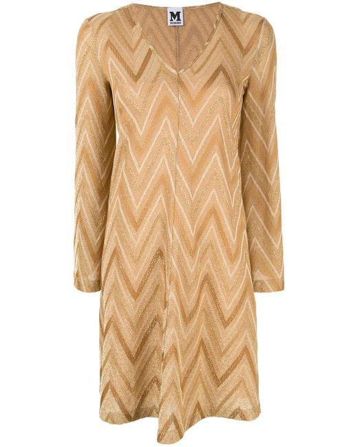 M Missoni パターン ニット ドレス Natural