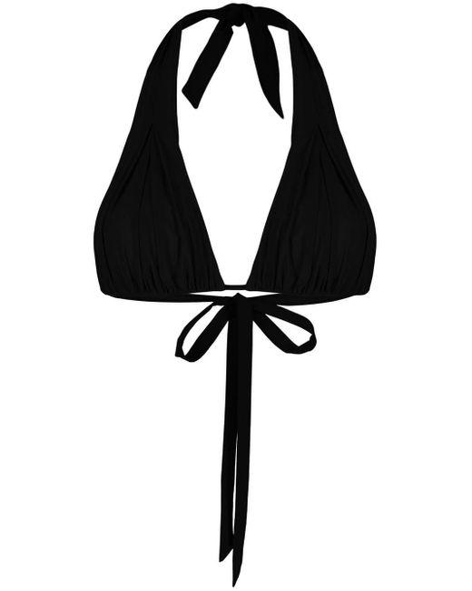 Haut de bikini à détail de nœud Carine Gilson en coloris Black